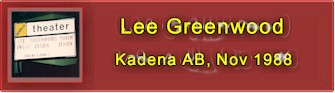 Site map for Lee Greenwood concert at the Keystone Theater, Kadena AB, Nov 1988
