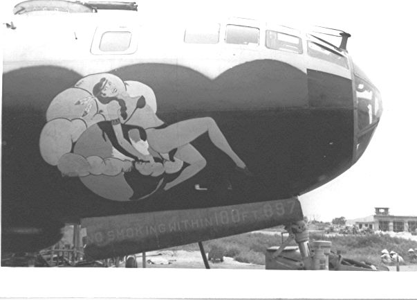 a B-29 at Kadena Air Base, Okinawa 1951