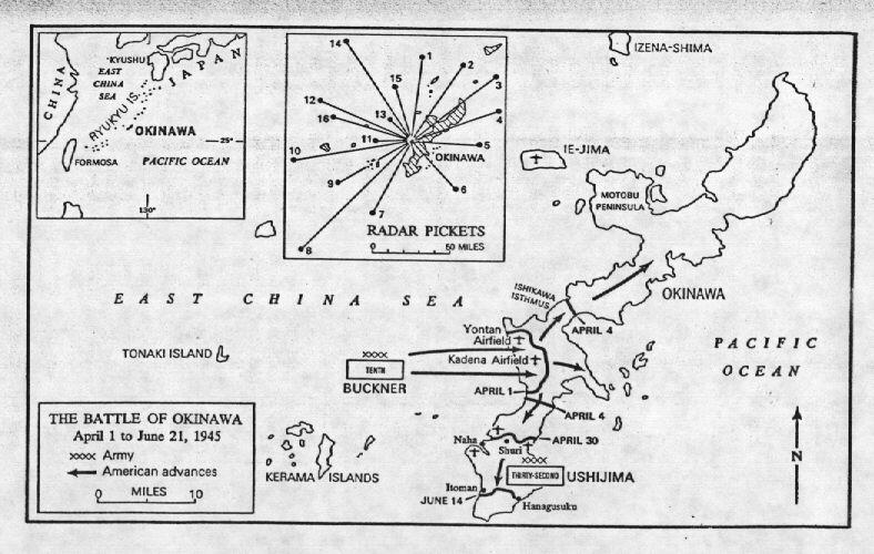 ... Battle Map Of Okinawa ...