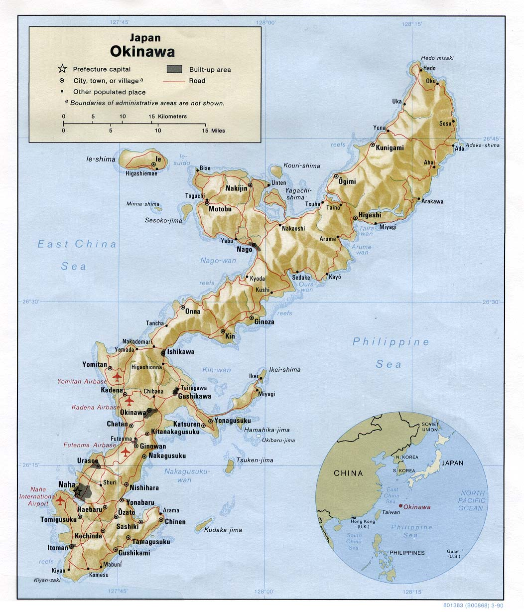 Map of Okinawa